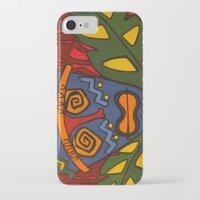 tiki iPhone & iPod Cases featuring Tiki by Shaylah Lukas Art