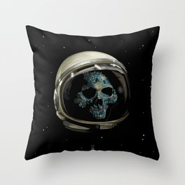 Holy Starman Skull II Throw Pillow
