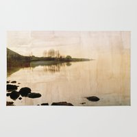 lake Area & Throw Rugs featuring lake by laika in cosmos