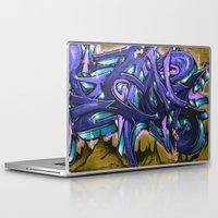graffiti Laptop & iPad Skins featuring Graffiti by Fine2art
