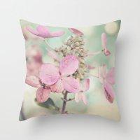 blush Throw Pillows featuring Blush  by Laura Ruth