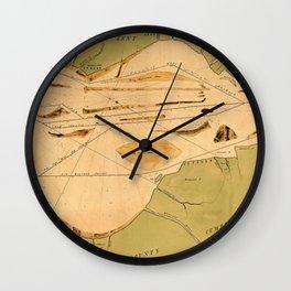 Map Of Delaware Bay 1770 Wall Clock