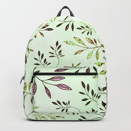 Purple Leaf Backpack