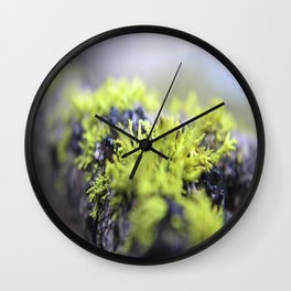 Mossy thoughts Wall Clock