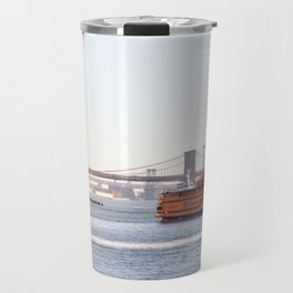 Staten Island Ferry to Manhattan Travel Mug