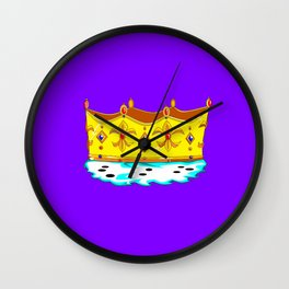 A Gold Crown with Ermine Fur Wall Clock