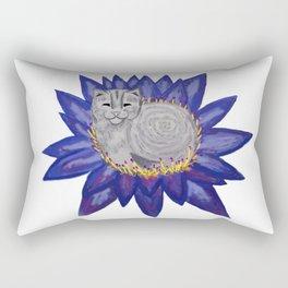 Buddha Cat Rectangular Pillow