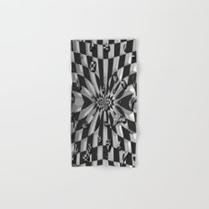 Chessboard Drops by Nico Bielow Hand & Bath Towel