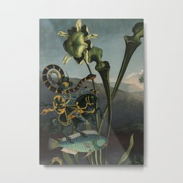 Parasitical Battle Metal Print