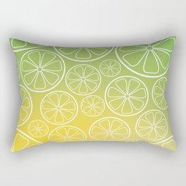 Citrus slices (green/yellow) Rectangular Pillow