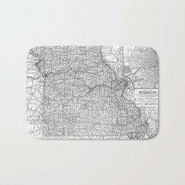 Vintage Map of Missouri (1891) BW Bath Mat