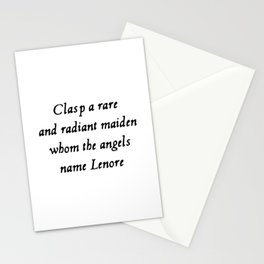 Poe The Raven Lenore Quote Gothic Stationery Cards