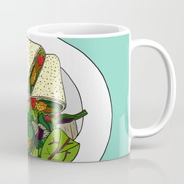 Healthy Falafel Wrap Lunch Coffee Mug