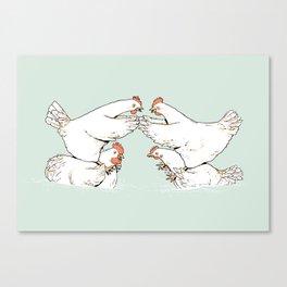 Chicken Fight Canvas Print