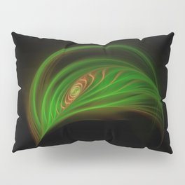 Gold Green Peacock Feather Pillow Sham