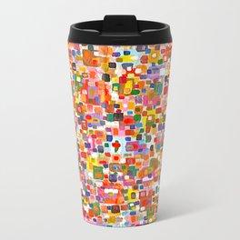 Pixel Bloom Metal Travel Mug