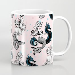 Pearla the Mermaid on Pink Coffee Mug