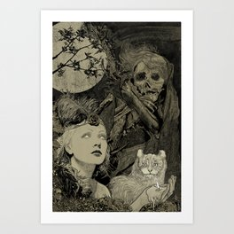 Fog Weaver Art Print