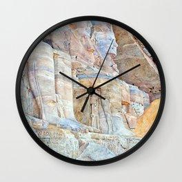 Henri Roderick Newmann Temple of Ramses II Wall Clock