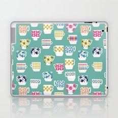 Vintage Teacups - Mid Century, Retro Teacups in pop colors by Andrea Lauren Laptop & iPad Skin