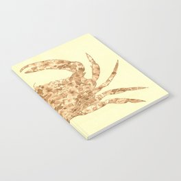 Sepia Floral Crab  Notebook