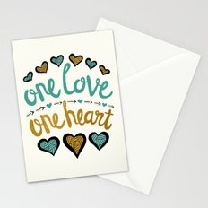 One Love One Heart Stationery Cards