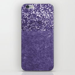 Ultra Violet Glitter Meets Ultra Violet Concrete #1 #decor #art #society6 iPhone Skin