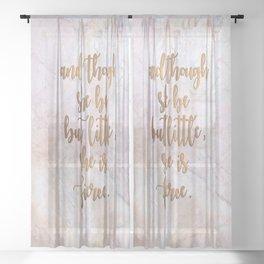 She is Fierce - Marble Sheer Curtain