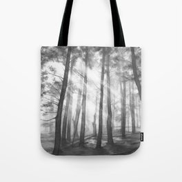 """Soothing Place"" - pencil drawing of the dark forest Tote Bag"