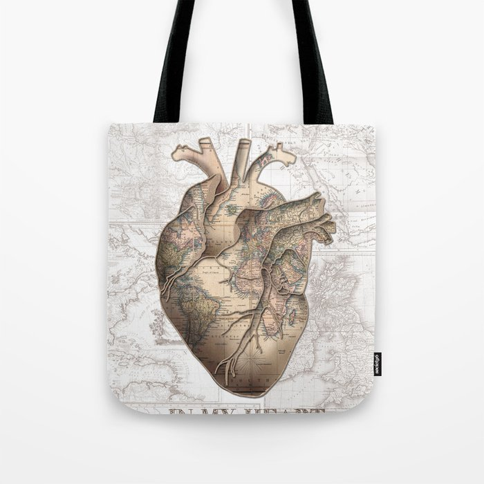 Adventure heart world map 1 tote bag by bekimart society6 adventure heart world map 1 tote bag gumiabroncs Image collections