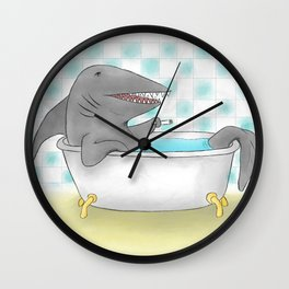 Shark bath Wall Clock