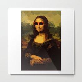 Cool Mona Lisa Metal Print
