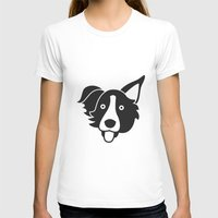 border collie T-shirts featuring Border Collie by anabelledubois