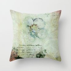 This year's last strawberry flower Throw Pillow