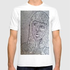 Reflect - Broken Mirror Mosaic Mens Fitted Tee MEDIUM White
