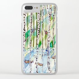Flooded Forest Clear iPhone Case
