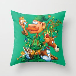 Elf Walter - Ornaments & Decorations Department Throw Pillow