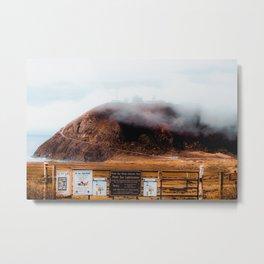 mountain with foggy sky at Big Sur, highway 1, California, USA Metal Print