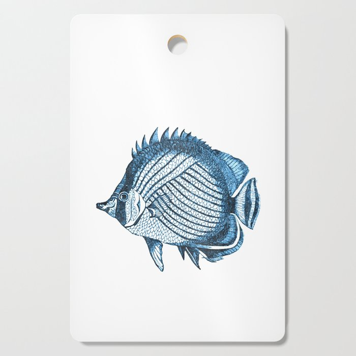 Fish coastal ocean blue watercolor Cutting Board
