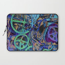 Welcome To The Machine Blue Laptop Sleeve