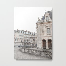 Parisian Architecture In France Photo | Building In Paris Europe Fine Art Print | Digital Street Travel Photography Metal Print