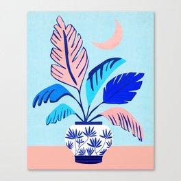 Sweet Dreams / Night Scene Illustration Canvas Print