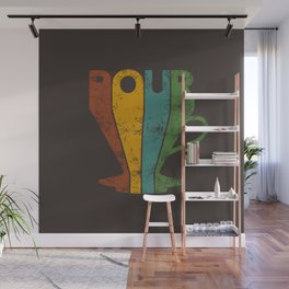 Pour Over Coffee Lover // Abstract Typography Wall Artwork Graphic Design Kettle Wall Mural