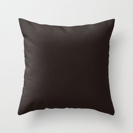 Dark brown black chocolate pure clear cocoa color Throw Pillow