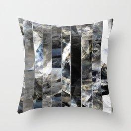 Vertical lines Throw Pillow