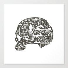 Icon Skull Canvas Print