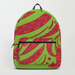 Samoan Polynesian Floral Backpack