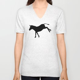 Who Says Donkeys Don't Need Shoes?! - Funny Conceptual Art Unisex V-Neck