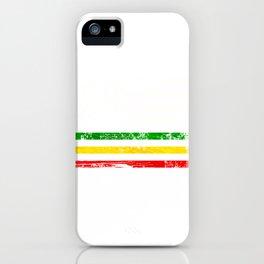African American flag design Gift Africa Rasta Reggae Flag iPhone Case