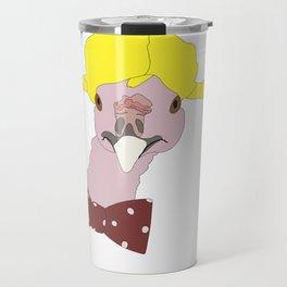 Spunky Turkey Yellow Hair Travel Mug